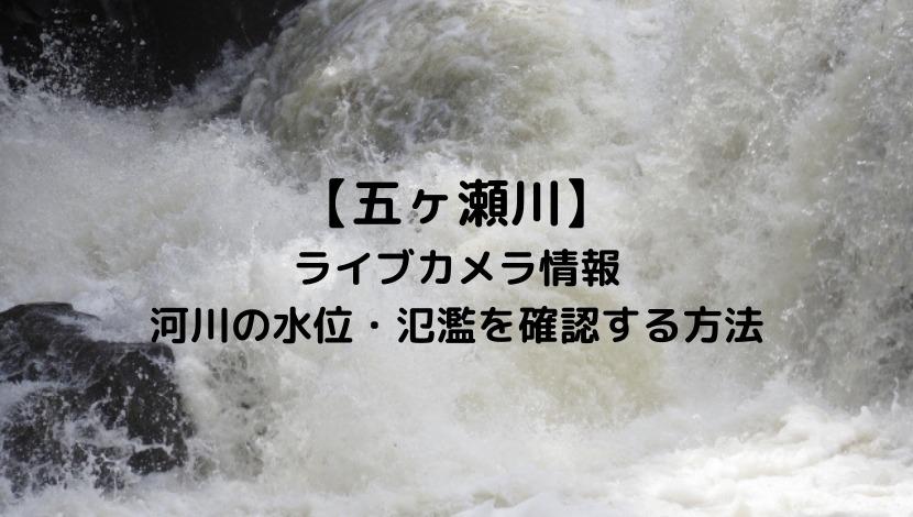 五ヶ瀬川(宮崎)のライブカメラと現在の水位や氾濫場所&状況を確認する方法!