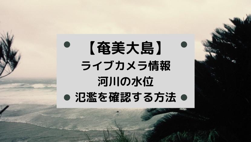 奄美大島・鹿児島の河川ライブカメラと現在の水位や氾濫場所&状況を確認する方法!