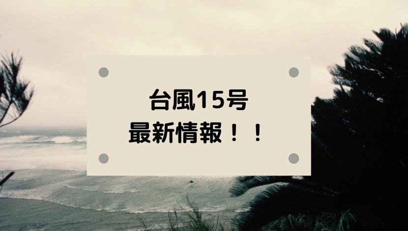 台風15号2020米軍ヨーロッパ・気象庁など進路予想!日本接近はいつ?