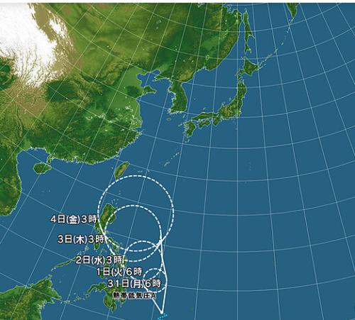 台風3号進路日本気象協会