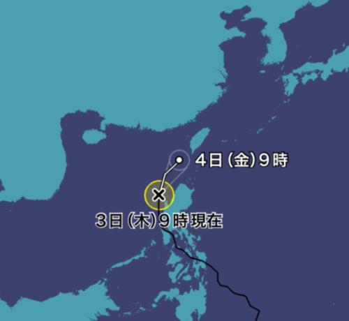 台風3号2021ウェザーニュース0603進路