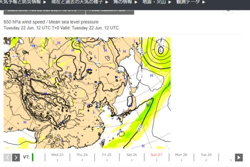 台風5号2021ヨーロッパ進路予想0623