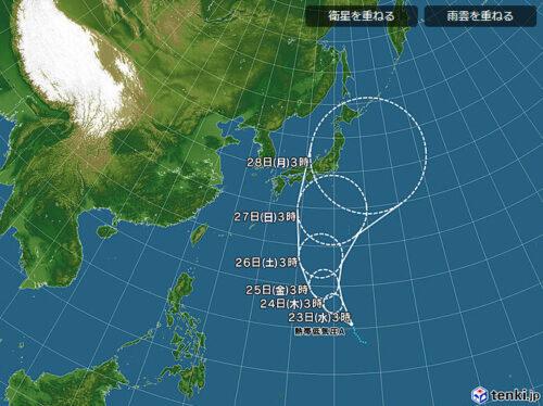 台風5号2021日本気象協会0623進路予想