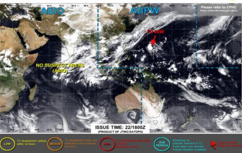 台風5号2021米軍進路予想