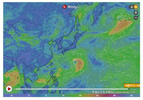 台風6号2021たまごWindy進路