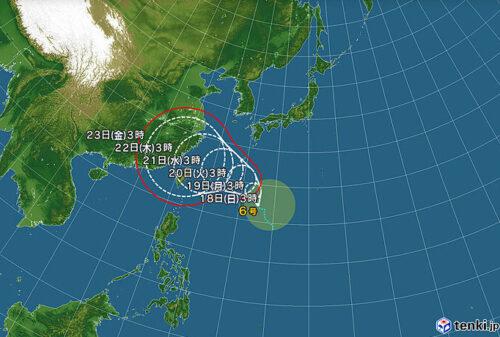 台風7号2021たまご気象協会最新情報