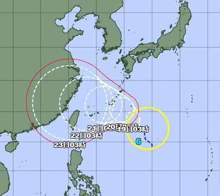 台風7号2021たまご気象庁最新情報