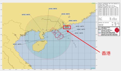 台風7号2021たまご米軍進路予想