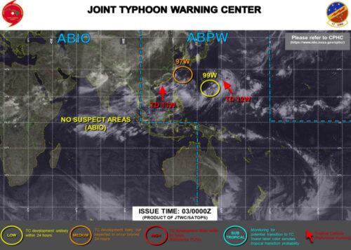 台風9号2021米軍最新情報
