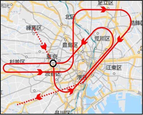 東京オリンピックブルーインパルス飛行ルート