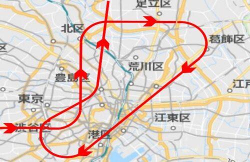 東京パラリンピックブルーインパルス飛行ルート