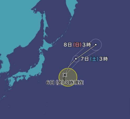台風11号2021ウェザーニュース