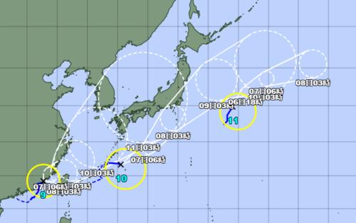 台風11号2021気象庁最新情報
