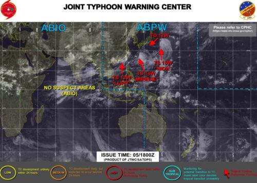 台風11号2021米軍最新情報
