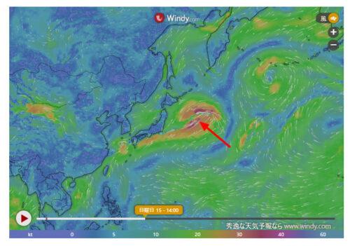 台風12号2021たまごWindy最新情報