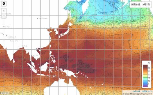 台風2021気象庁海面水温