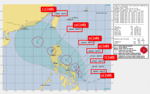 台風13号2021たまご米軍進路予想