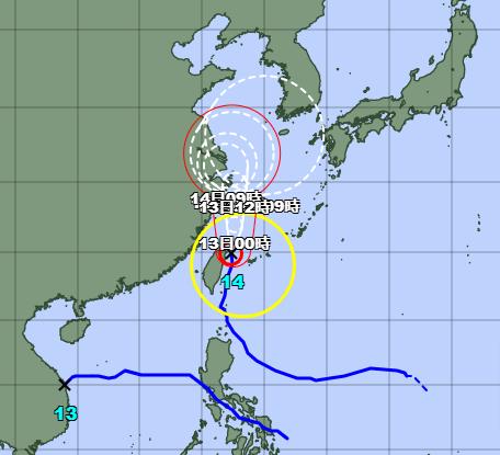 台風14号2021気象庁最新
