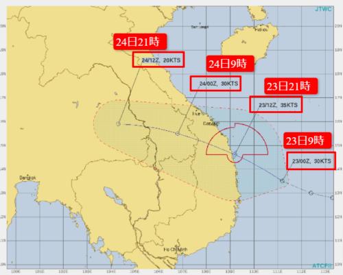 台風15号2021たまご米軍進路予想