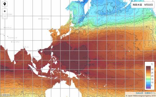 台風15号2021気象庁海面水温