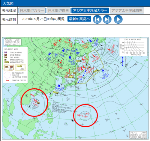 台風15号2021たまご気象庁天気図