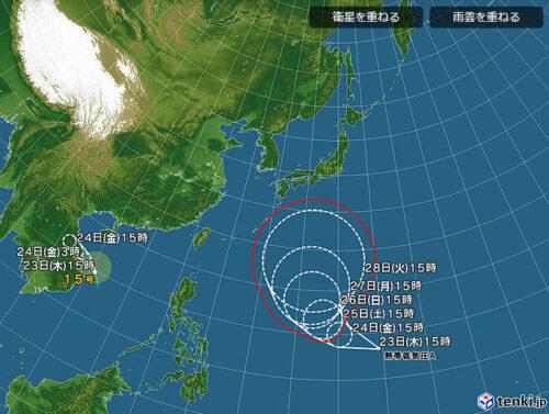 台風15号2021日本気象協会最新